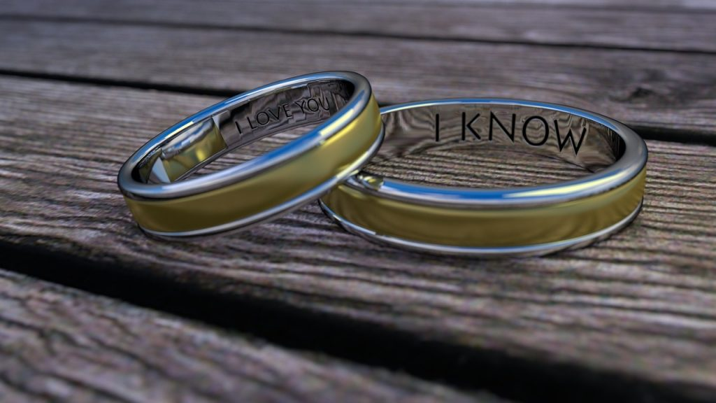 wedding rings symbolizing eternal love