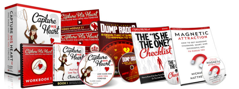 capture his heart and make him love you forever, ths is he the one checklist, dump radar, magnetic attraction product guides