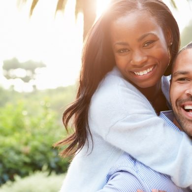 african-american couple in a happy relationship