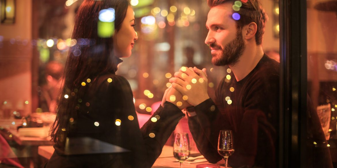 couple enjoying themselves on a first date and will probably go on a second date
