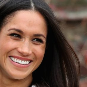 meghan markle smiling and happy