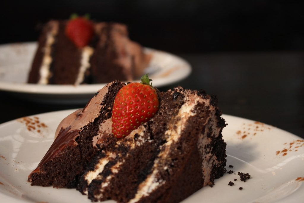 chocolate cake is the breakfast of champion